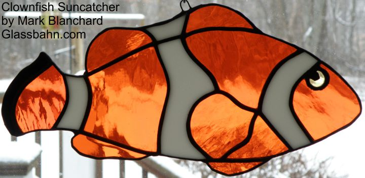Stained glass suncatchers and patterns for Stained glass fish patterns