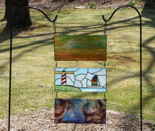 stained glass garden project - Glass Garden