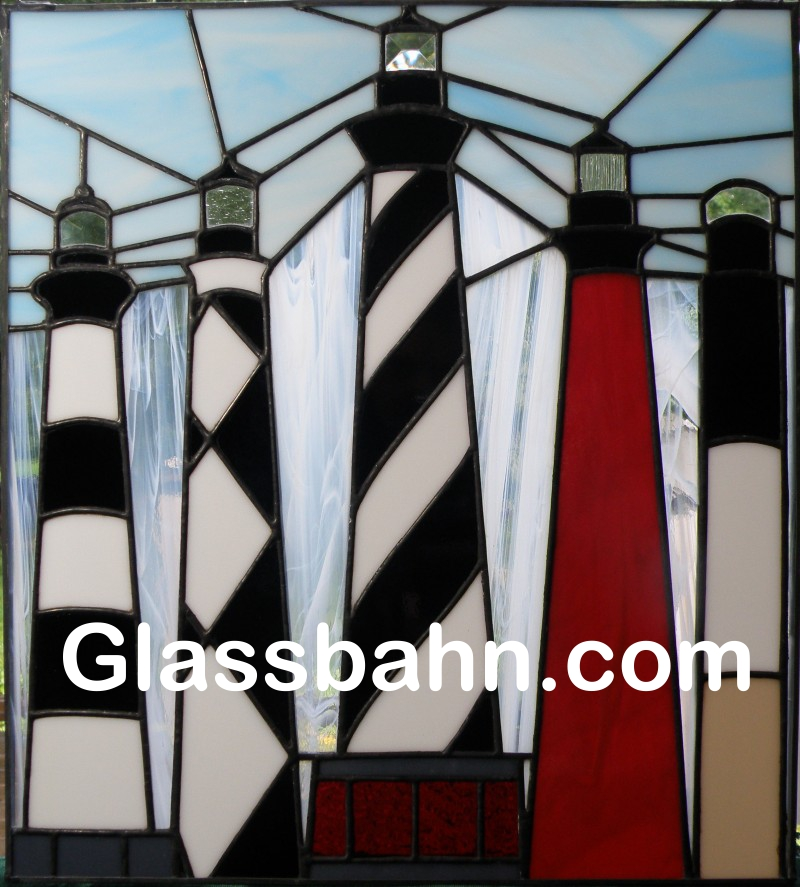 Free Lighthouse Stained Glass Stepping Stone Pattern | Stained