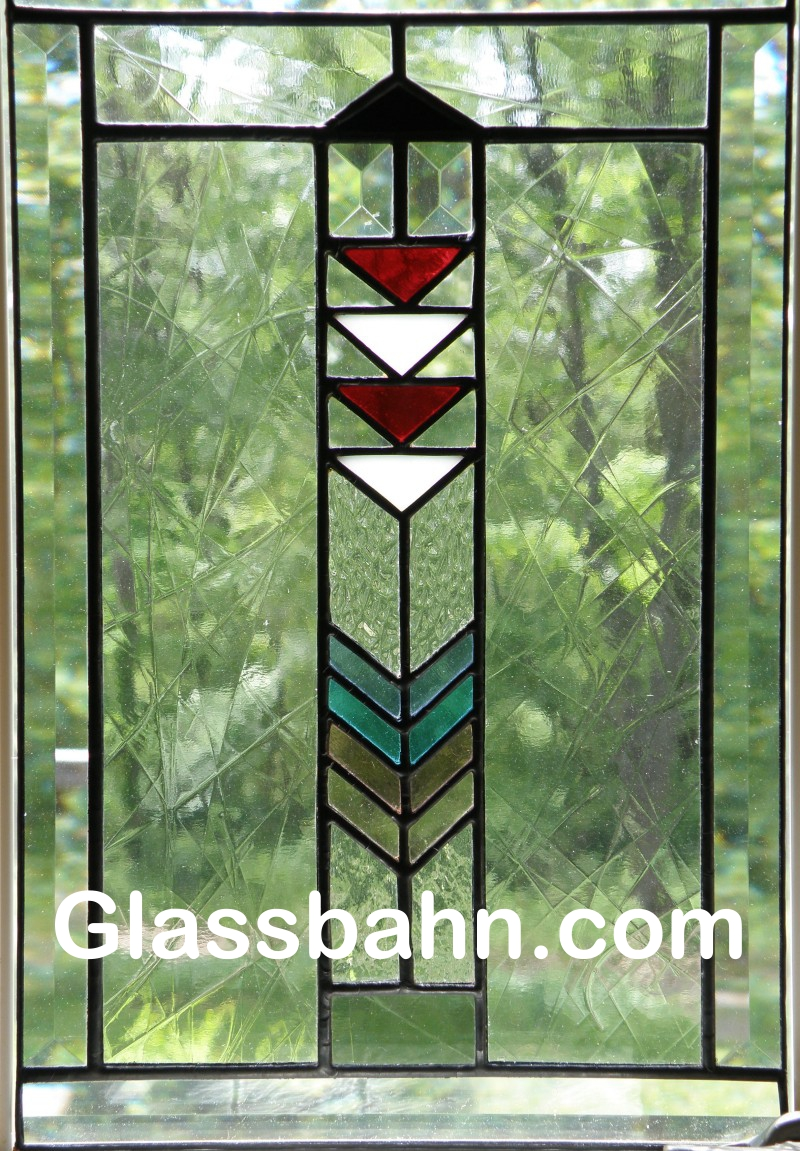 Stained glass prairie style lighthouse for Window panel design